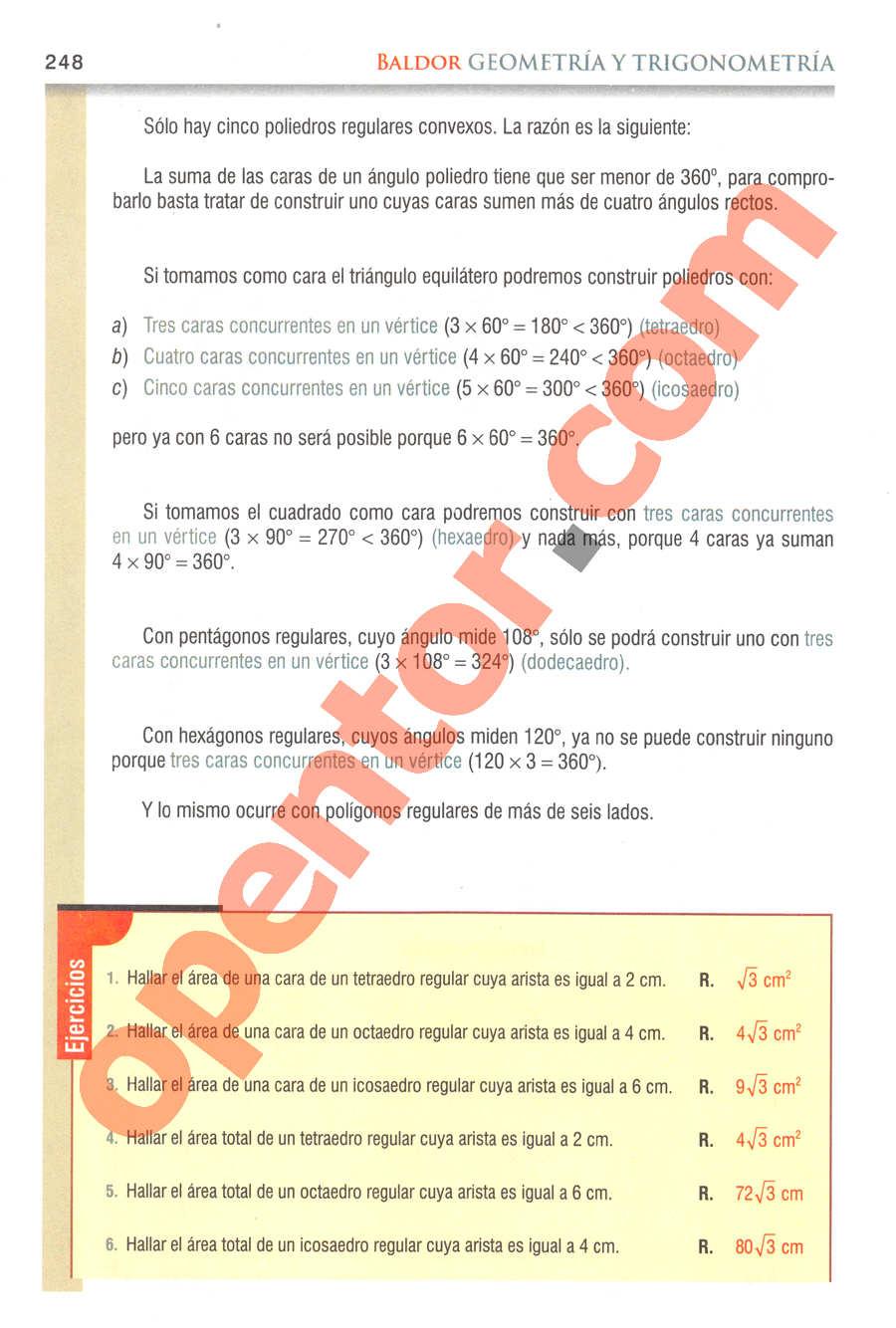 Geometría y Trigonometría de Baldor - Página 248