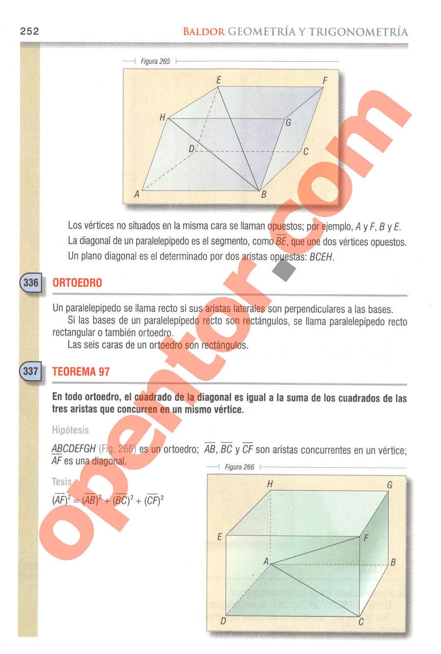 Geometría y Trigonometría de Baldor - Página 252