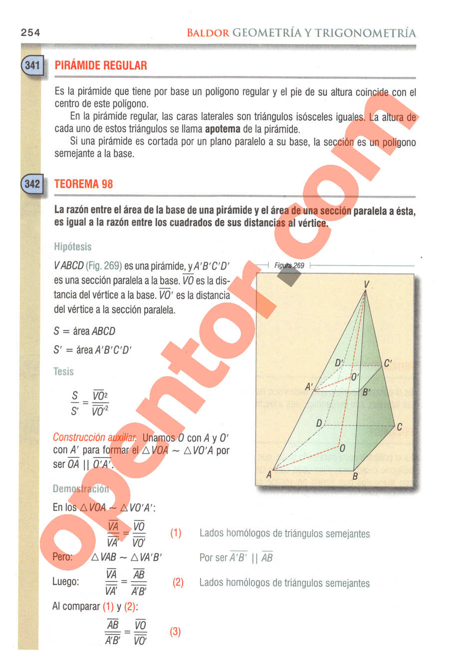 Geometría y Trigonometría de Baldor - Página 254