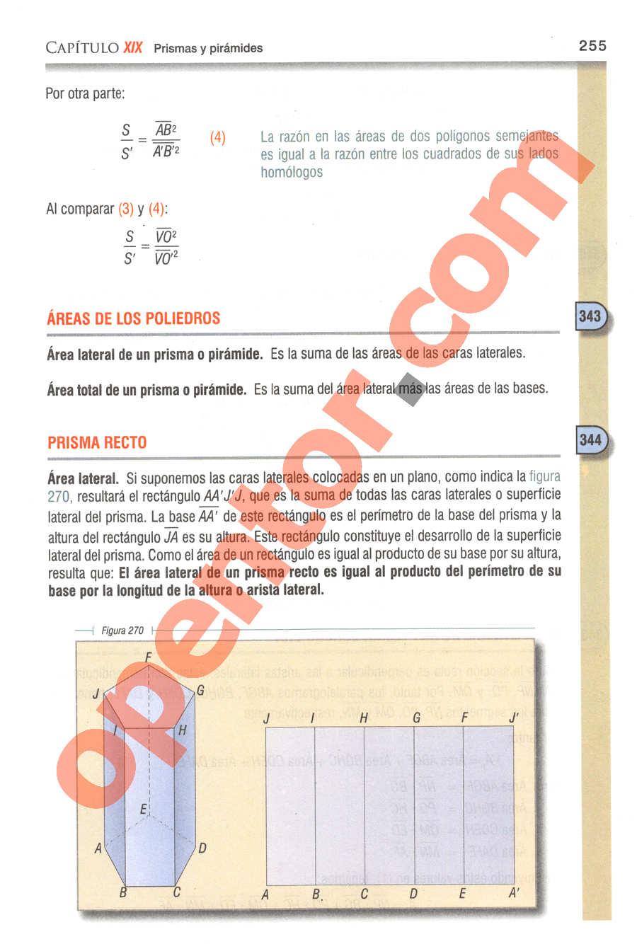 Geometría y Trigonometría de Baldor - Página 255