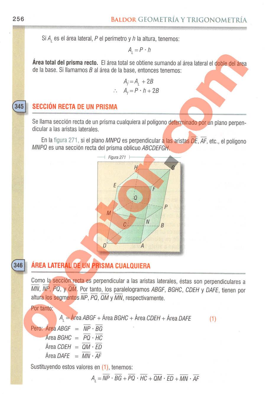 Geometría y Trigonometría de Baldor - Página 256