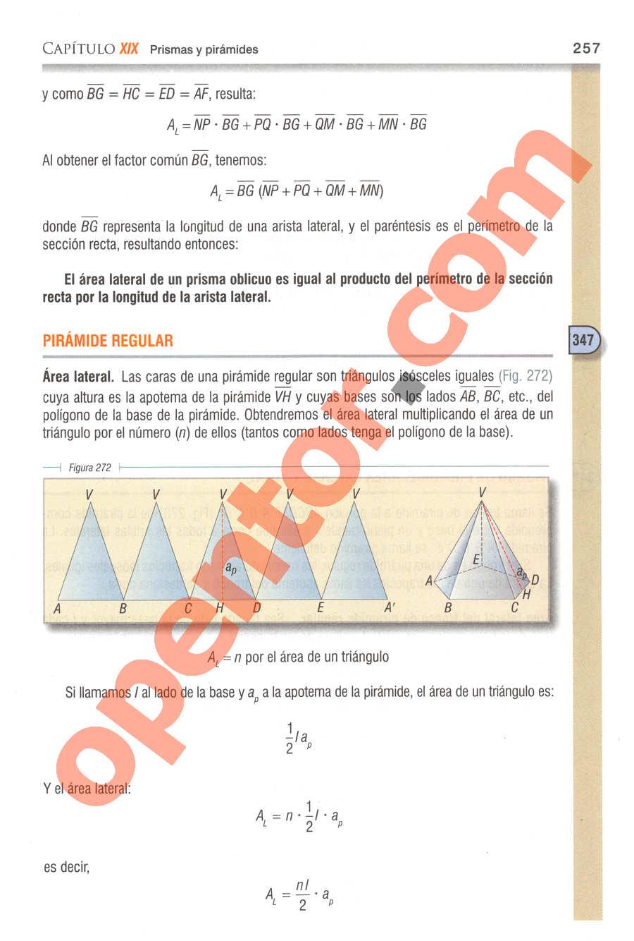 Geometría y Trigonometría de Baldor - Página 257