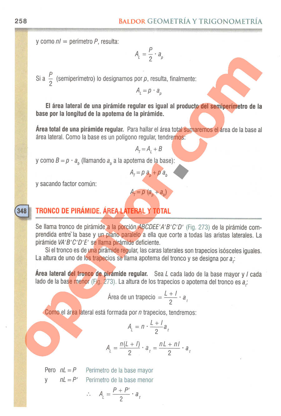 Geometría y Trigonometría de Baldor - Página 258