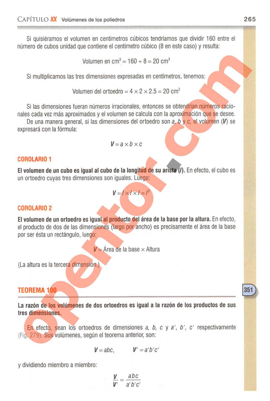 Geometría y Trigonometría de Baldor - Página 265