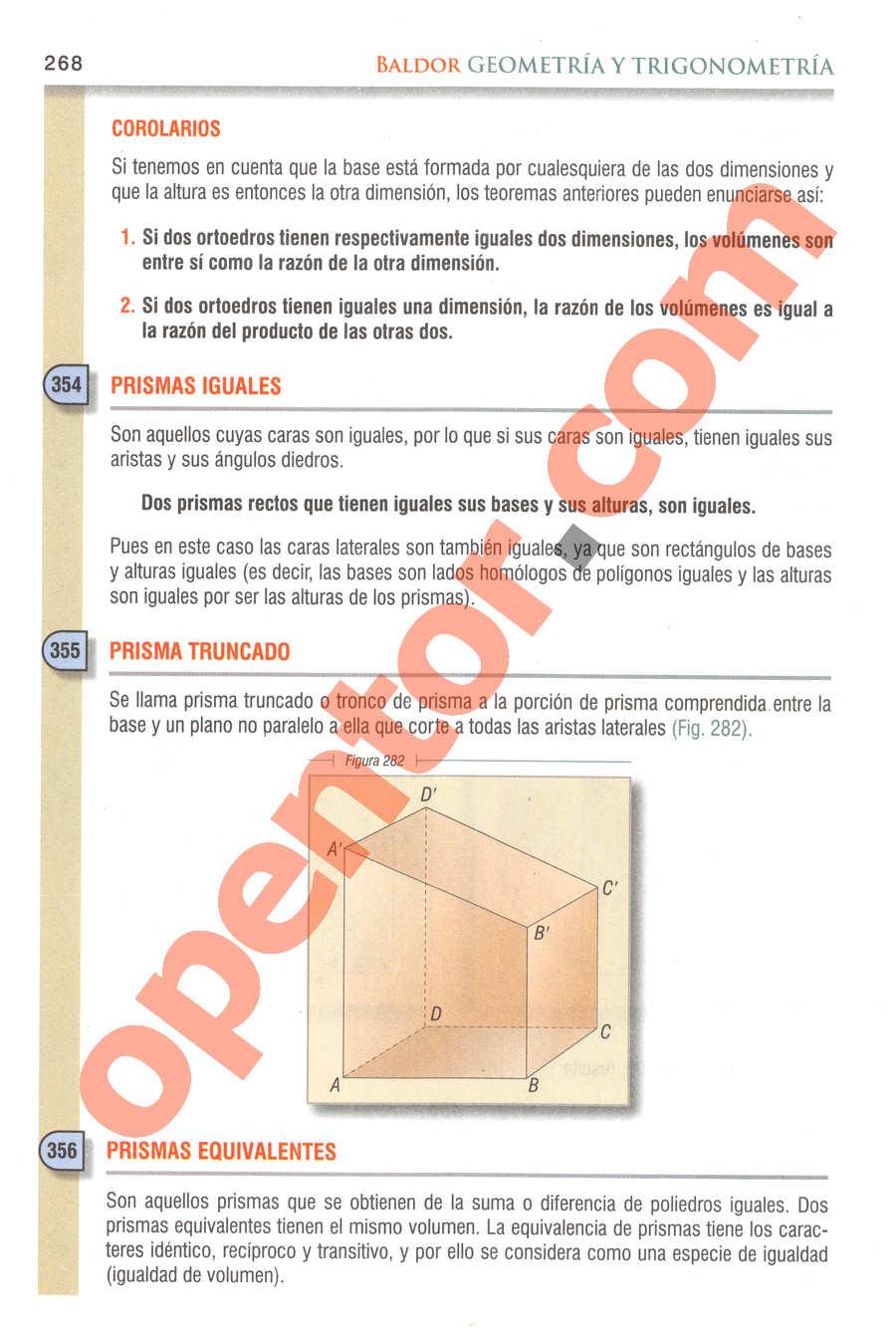 Geometría y Trigonometría de Baldor - Página 268