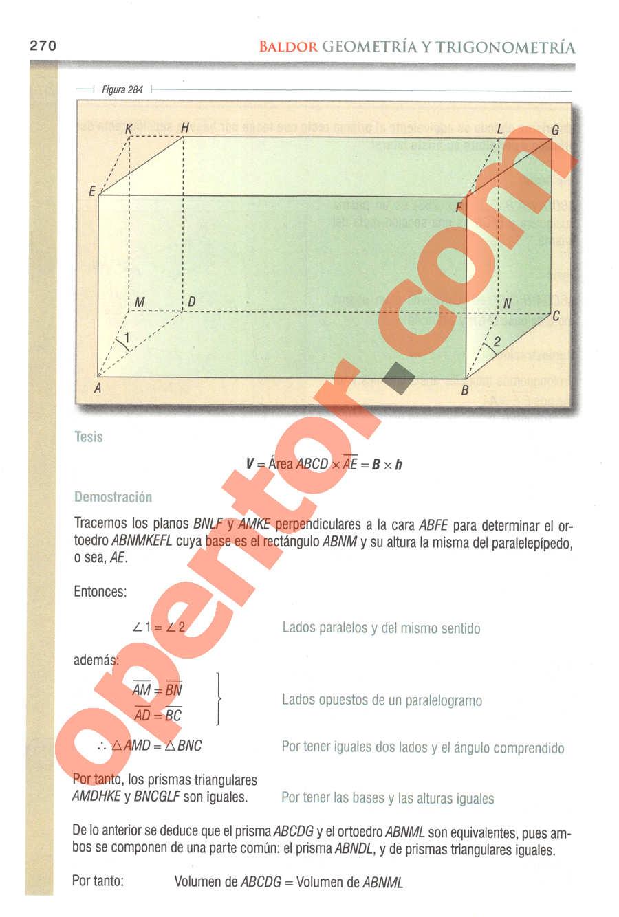 Geometría y Trigonometría de Baldor - Página 270