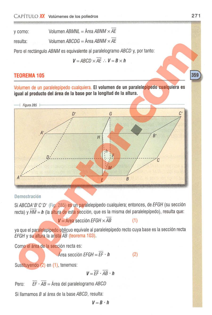 Geometría y Trigonometría de Baldor - Página 271