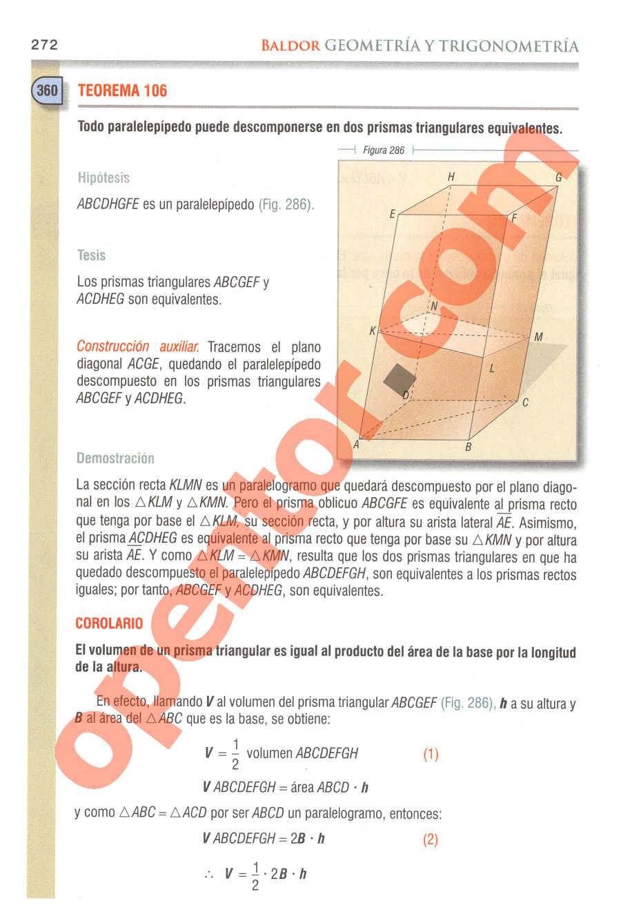 Geometría y Trigonometría de Baldor - Página 272