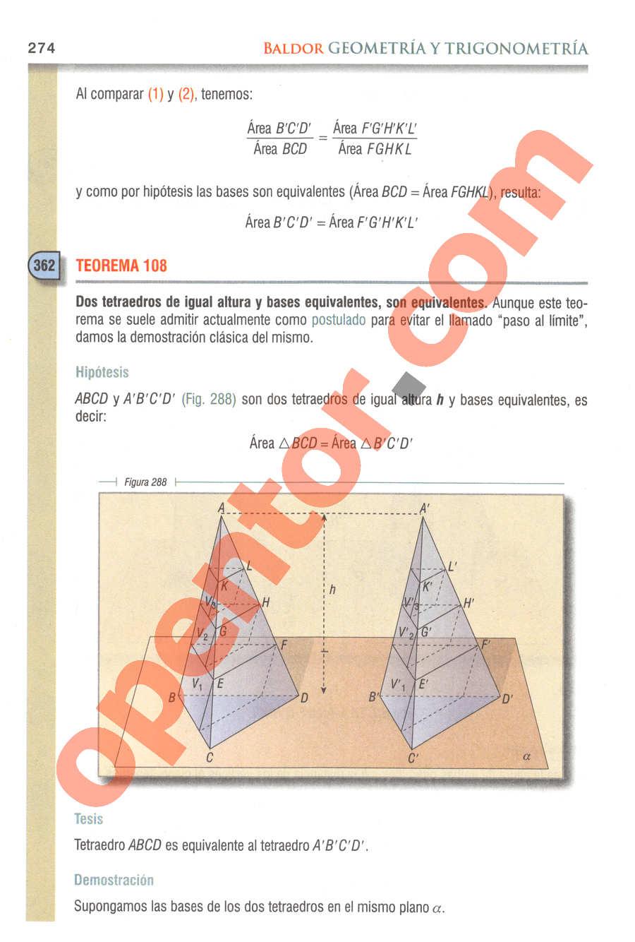 Geometría y Trigonometría de Baldor - Página 274