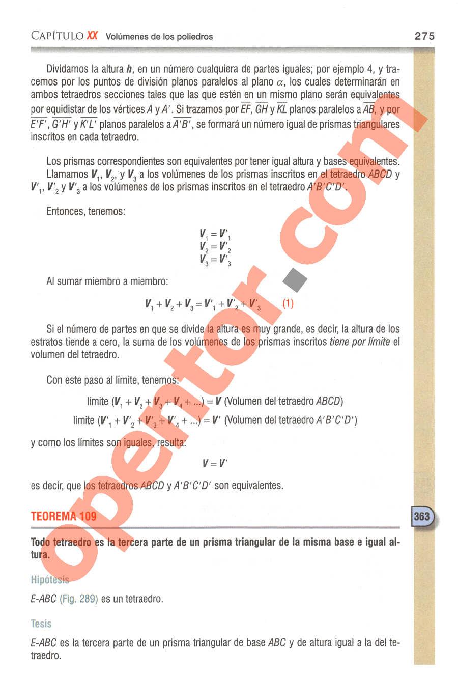 Geometría y Trigonometría de Baldor - Página 275