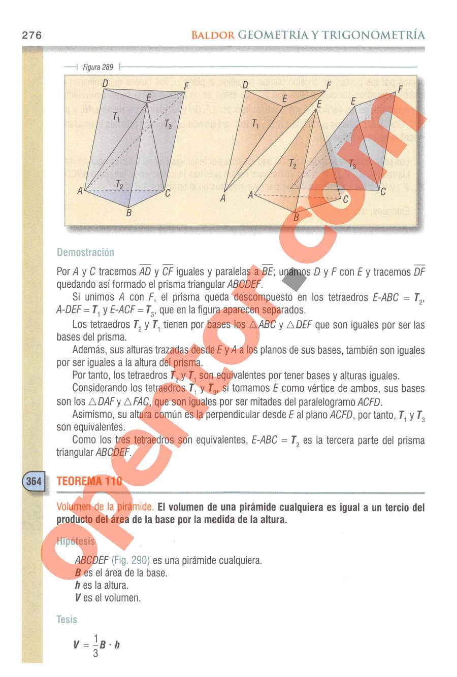 Geometría y Trigonometría de Baldor - Página 276