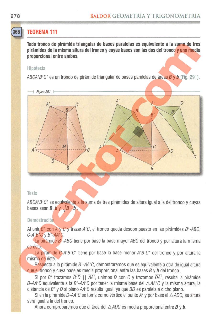 Geometría y Trigonometría de Baldor - Página 278