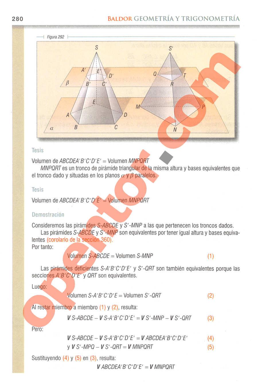 Geometría y Trigonometría de Baldor - Página 280