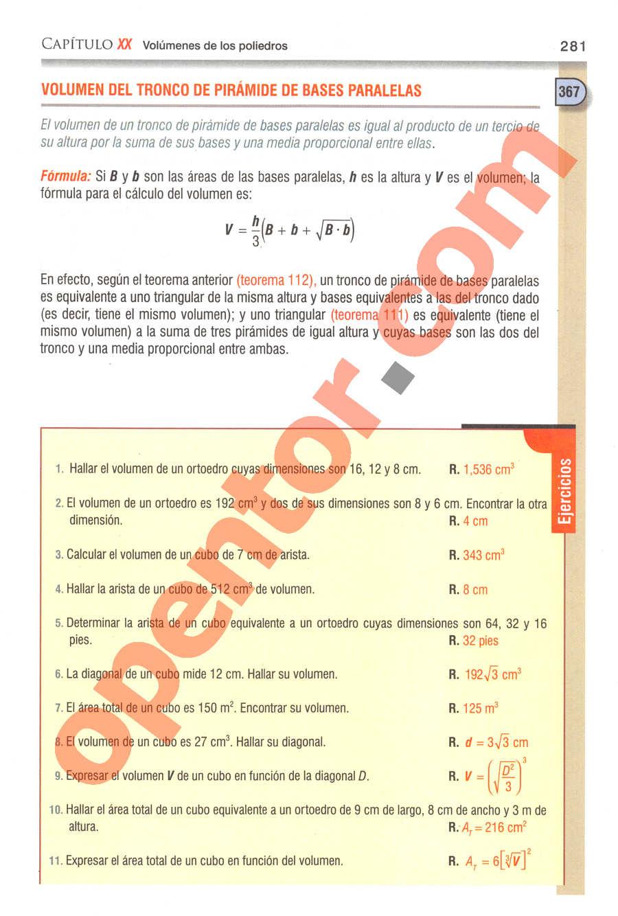 Geometría y Trigonometría de Baldor - Página 281