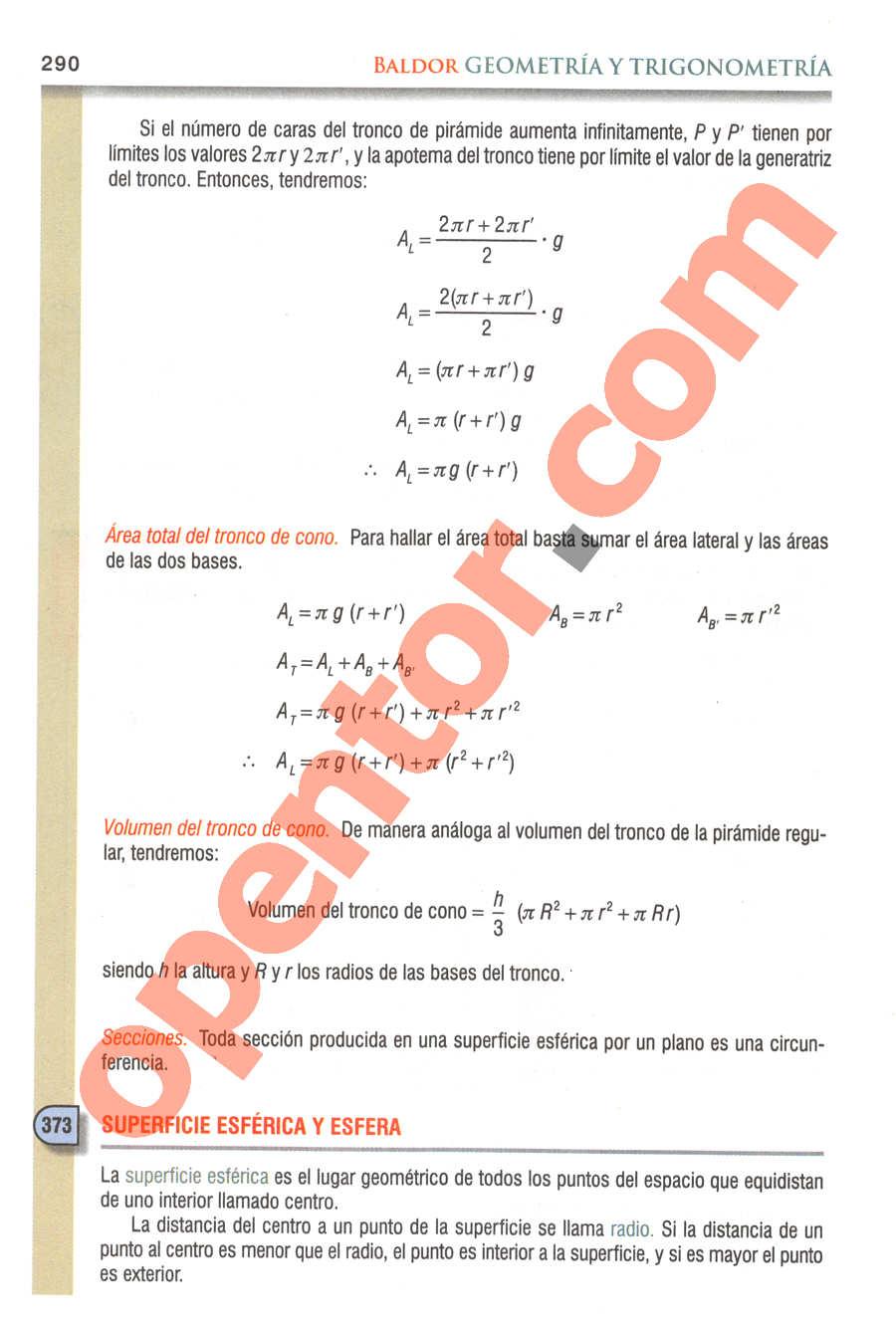Geometría y Trigonometría de Baldor - Página 290