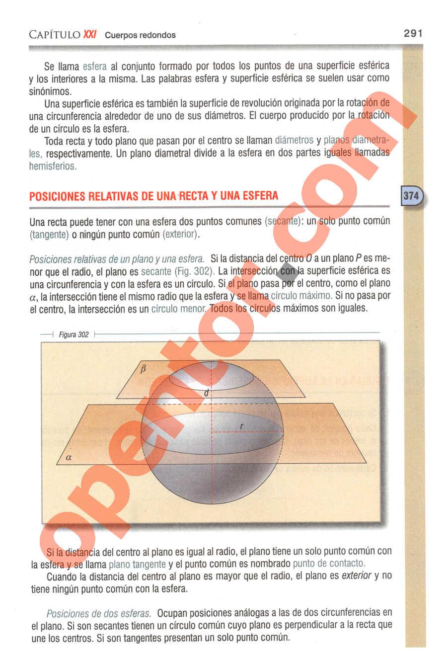 Geometría y Trigonometría de Baldor - Página 291