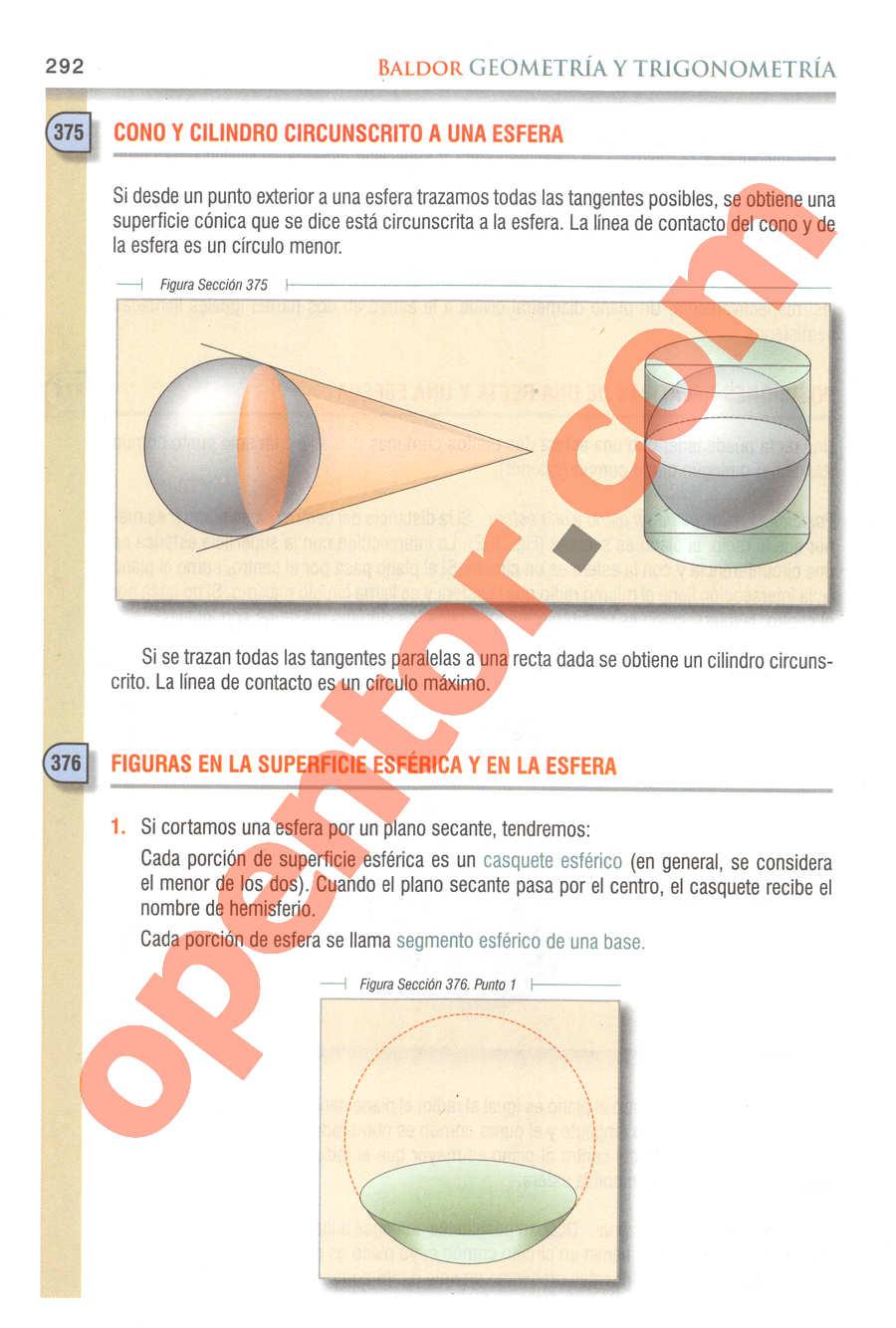Geometría y Trigonometría de Baldor - Página 292
