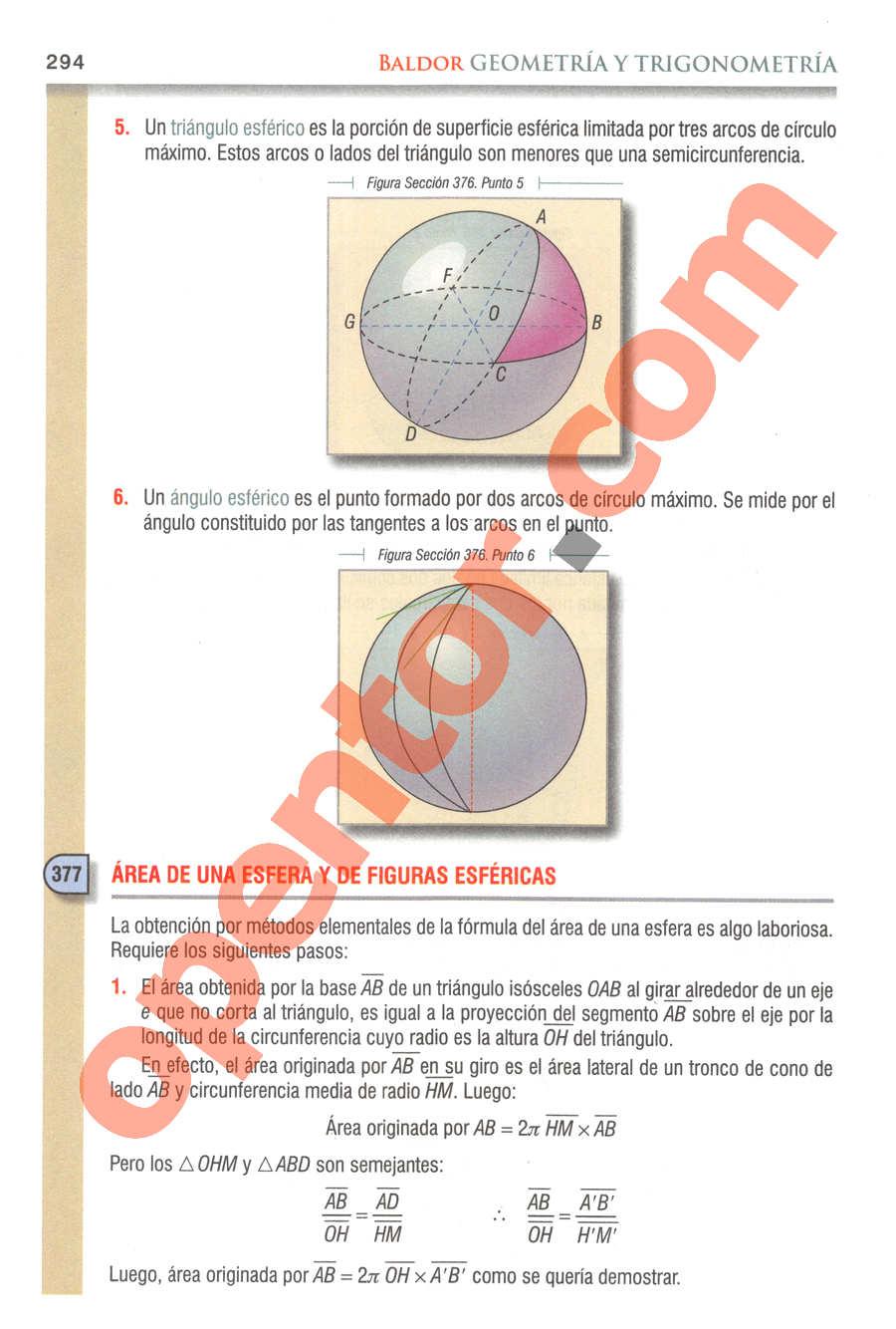 Geometría y Trigonometría de Baldor - Página 294