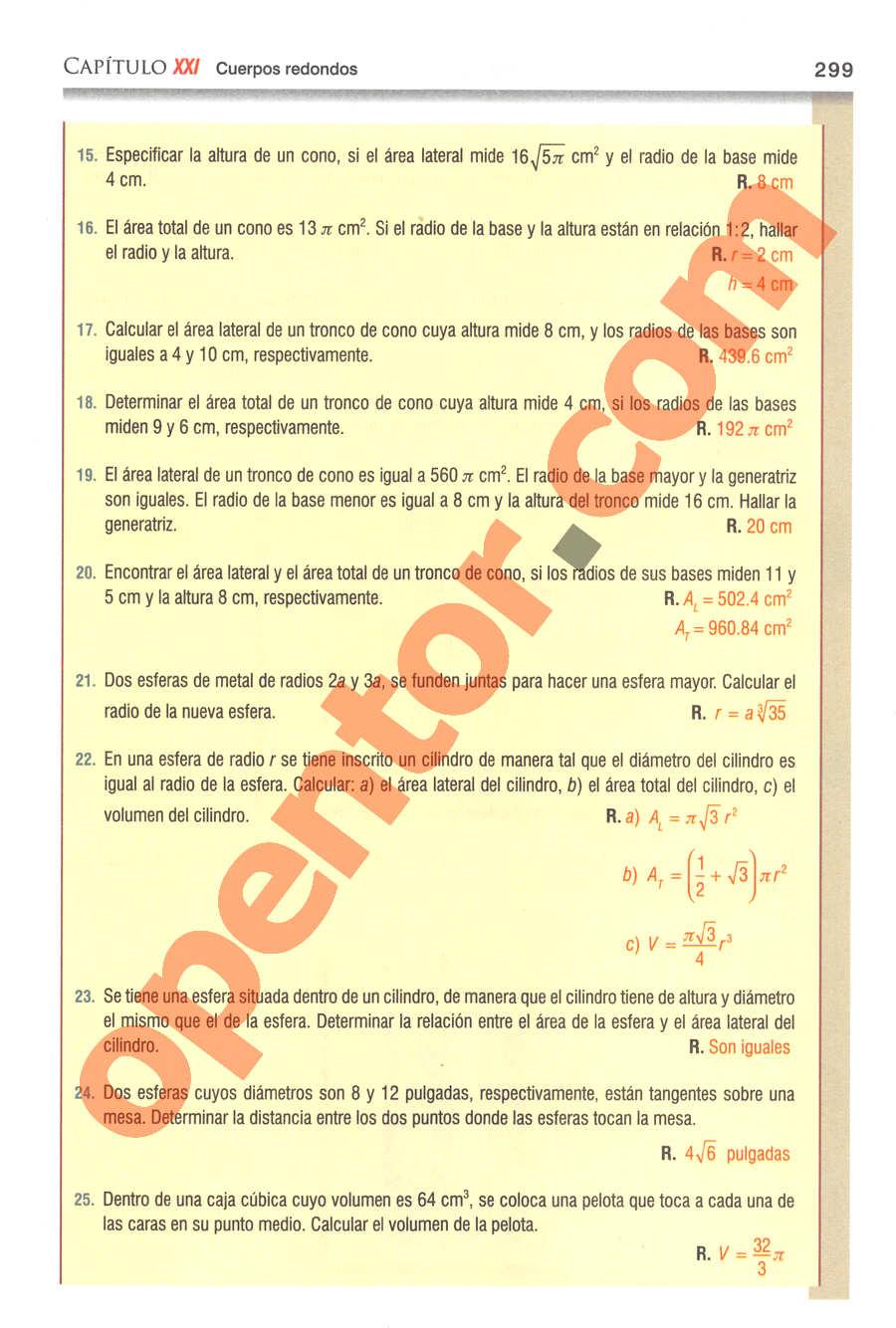 Geometría y Trigonometría de Baldor - Página 299