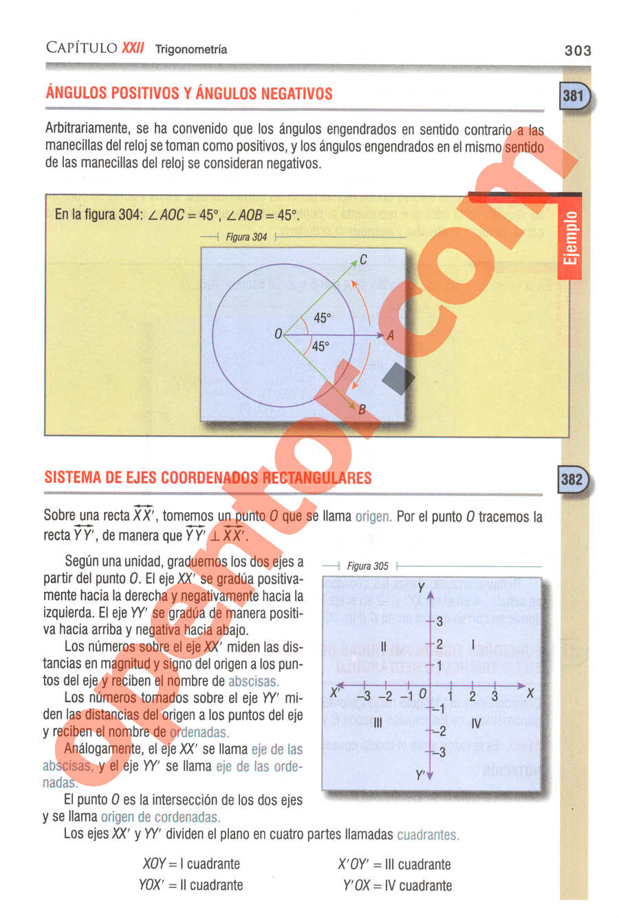 Geometría y Trigonometría de Baldor - Página 303