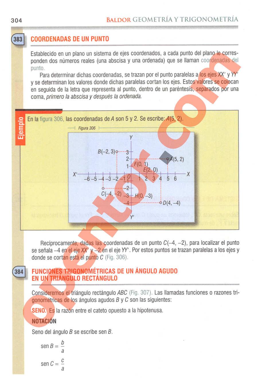 Geometría y Trigonometría de Baldor - Página 304