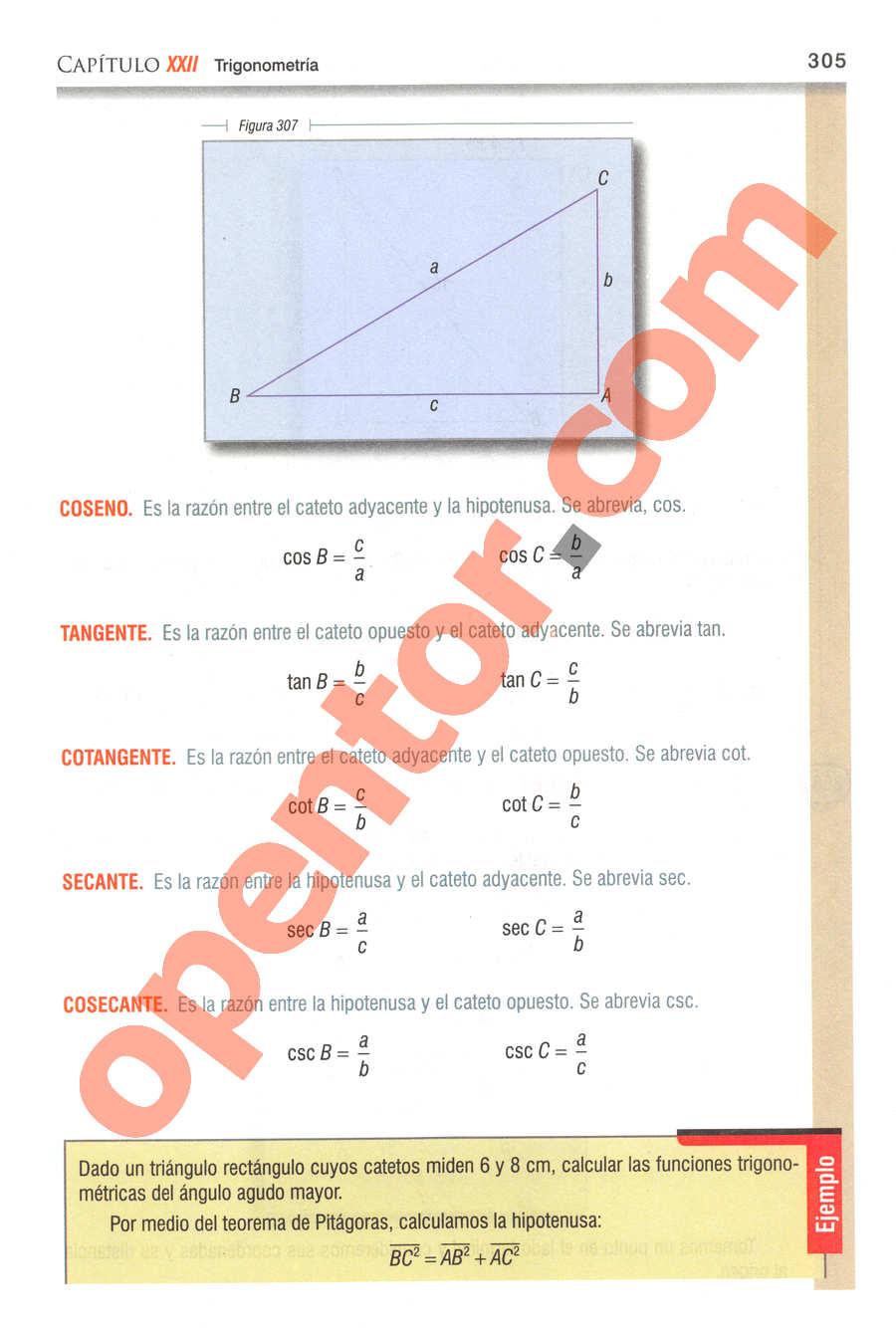 Geometría y Trigonometría de Baldor - Página 305