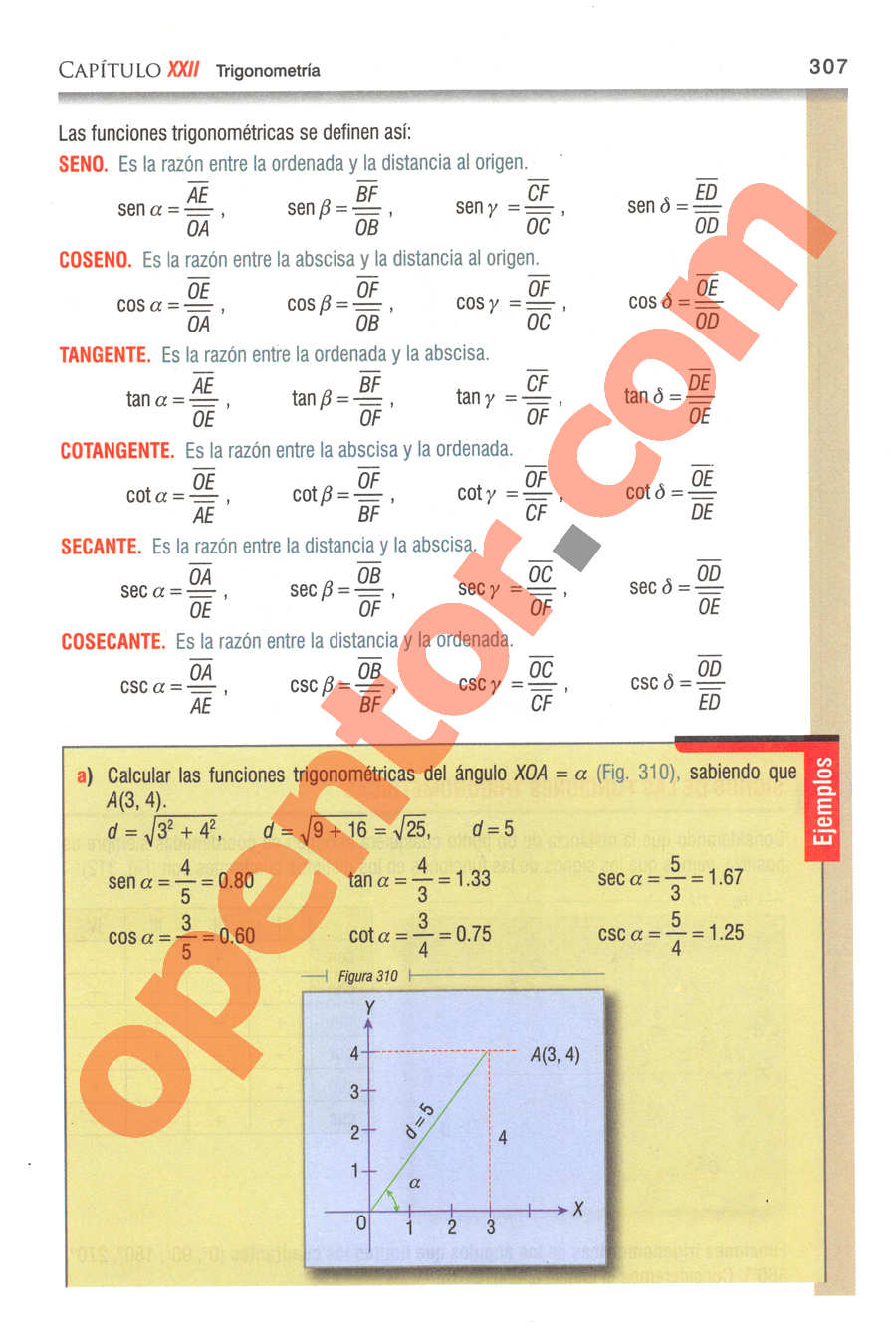 Geometría y Trigonometría de Baldor - Página 307