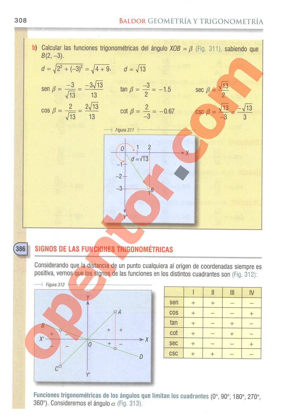 Geometría y Trigonometría de Baldor - Página 308