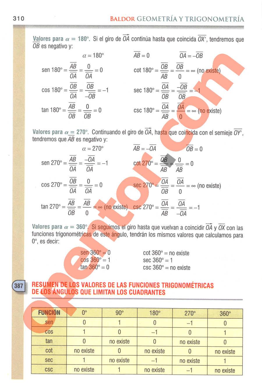 Geometría y Trigonometría de Baldor - Página 310