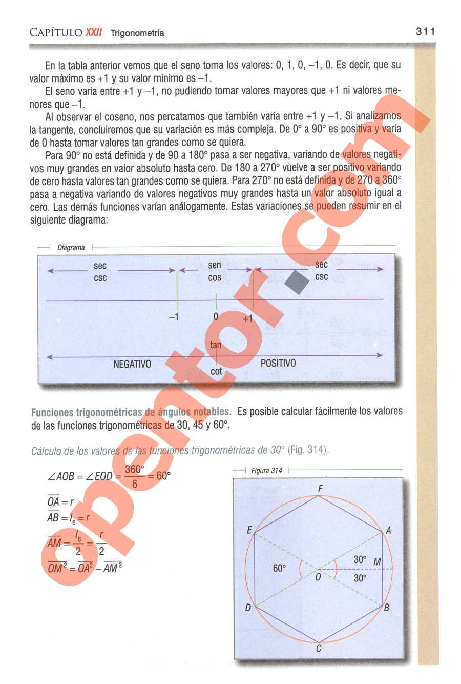 Geometría y Trigonometría de Baldor - Página 311