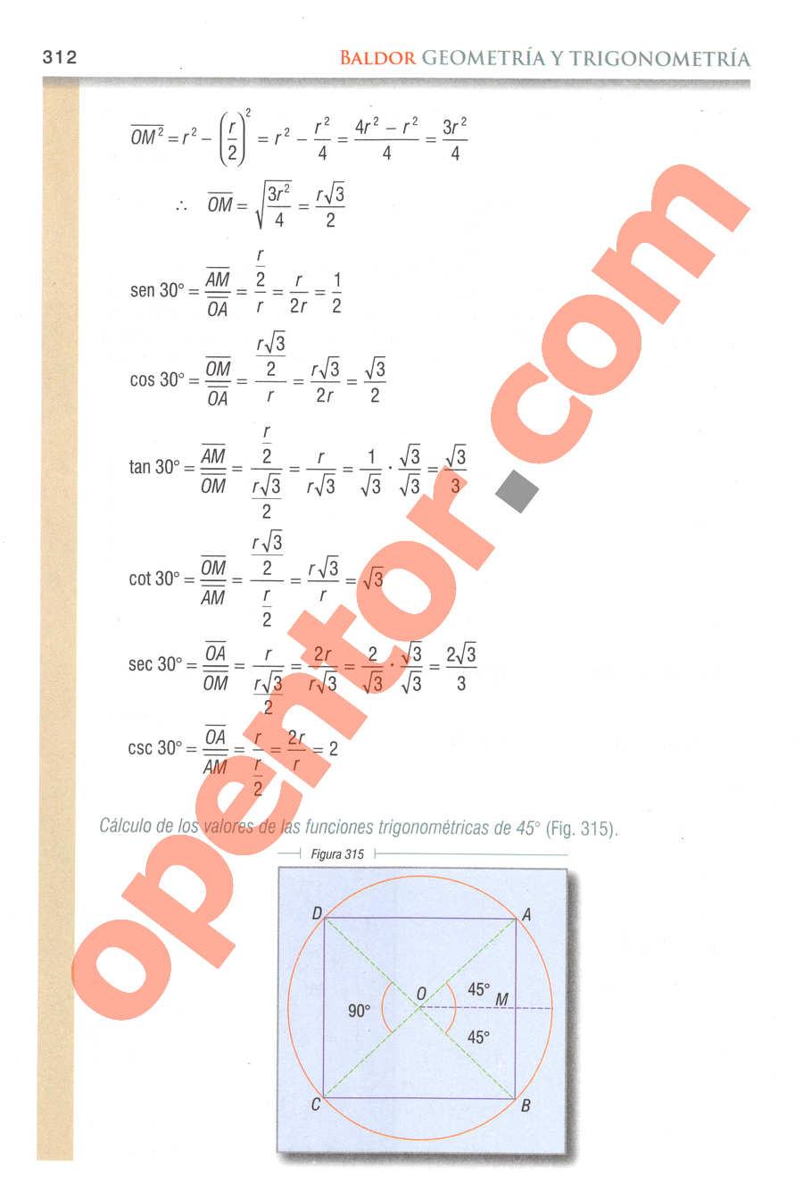 Geometría y Trigonometría de Baldor - Página 312