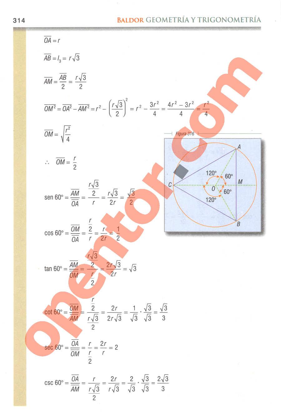 Geometría y Trigonometría de Baldor - Página 314