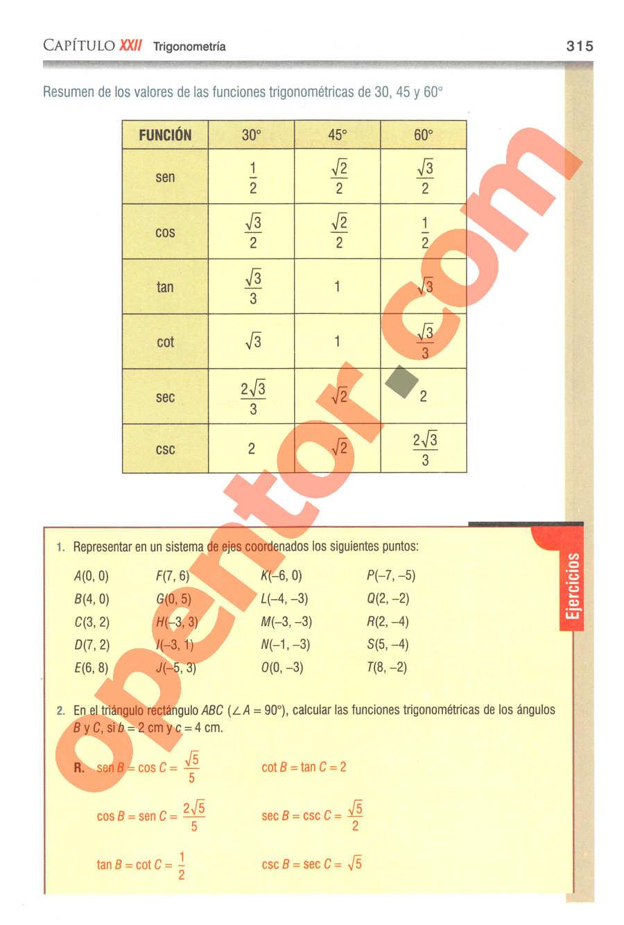 Geometría y Trigonometría de Baldor - Página 315