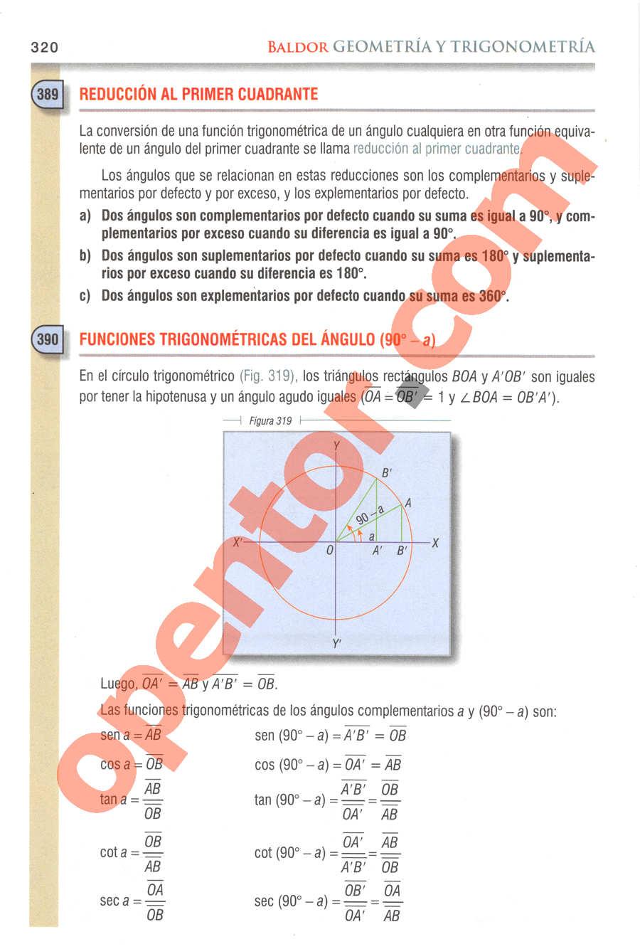 Geometría y Trigonometría de Baldor - Página 318