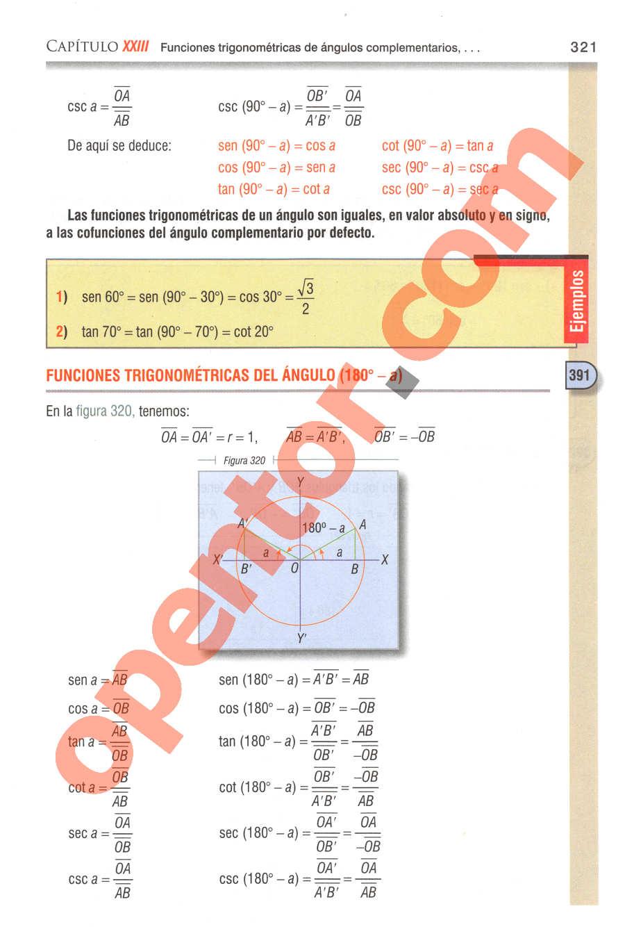 Geometría y Trigonometría de Baldor - Página 321