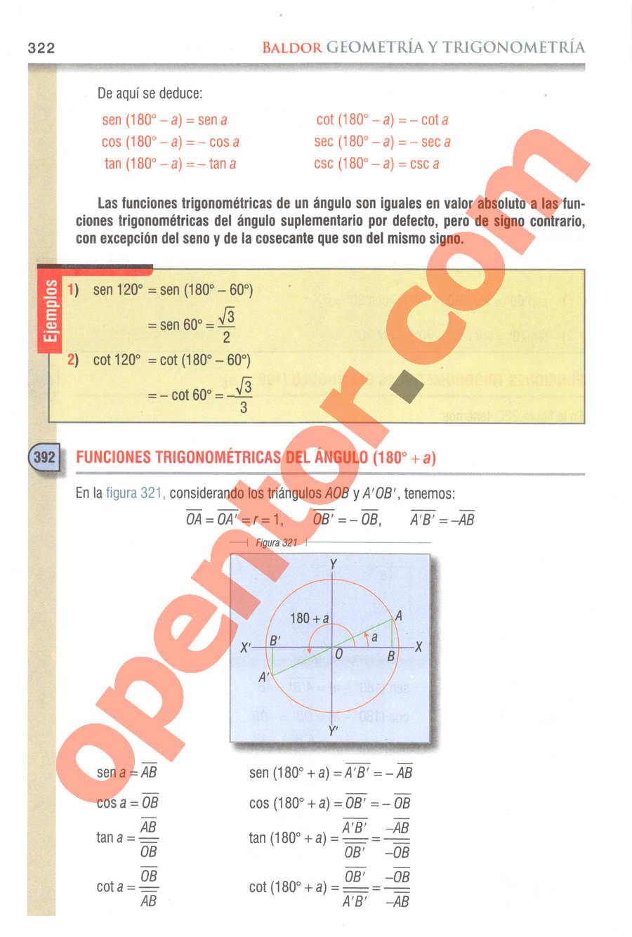 Geometría y Trigonometría de Baldor - Página 322
