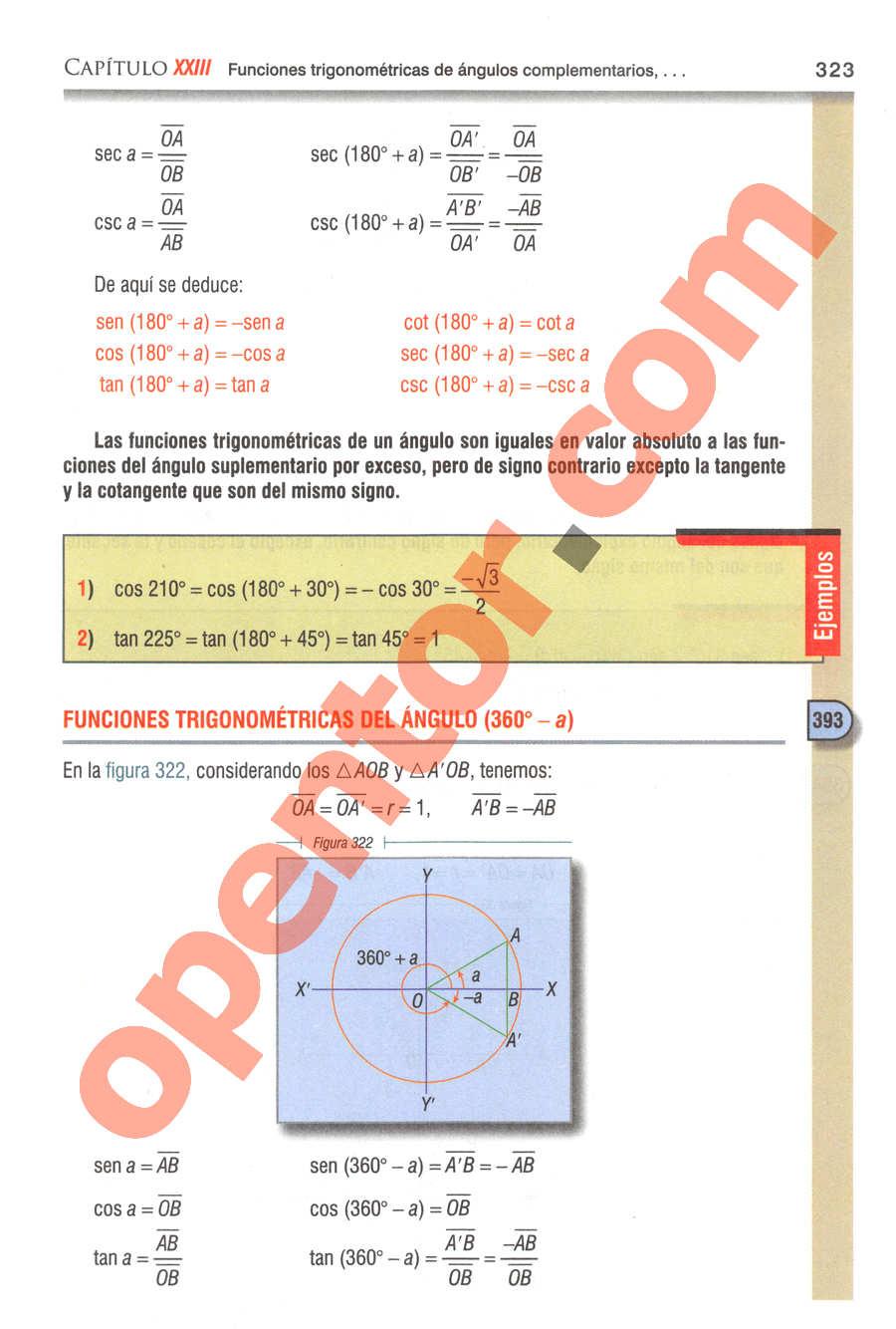 Geometría y Trigonometría de Baldor - Página 323