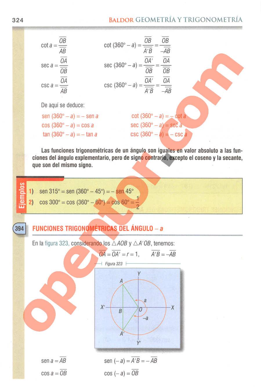 Geometría y Trigonometría de Baldor - Página 324