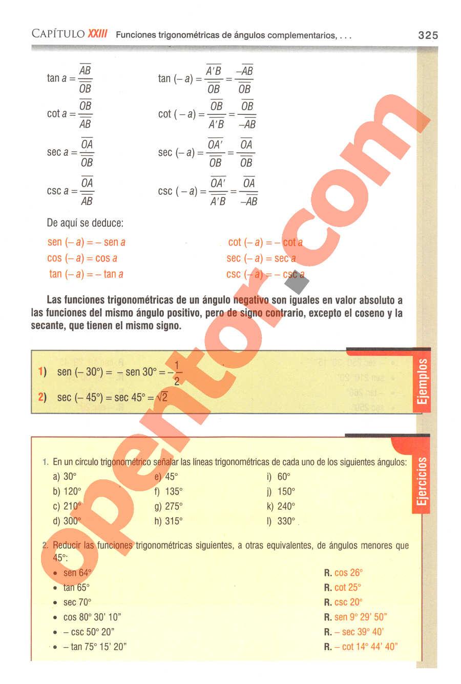 Geometría y Trigonometría de Baldor - Página 325