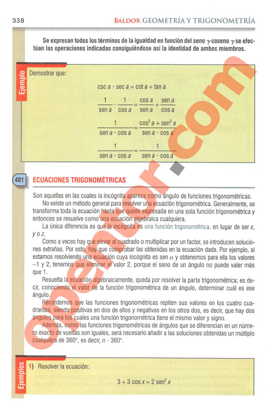 Geometría y Trigonometría de Baldor - Página 338