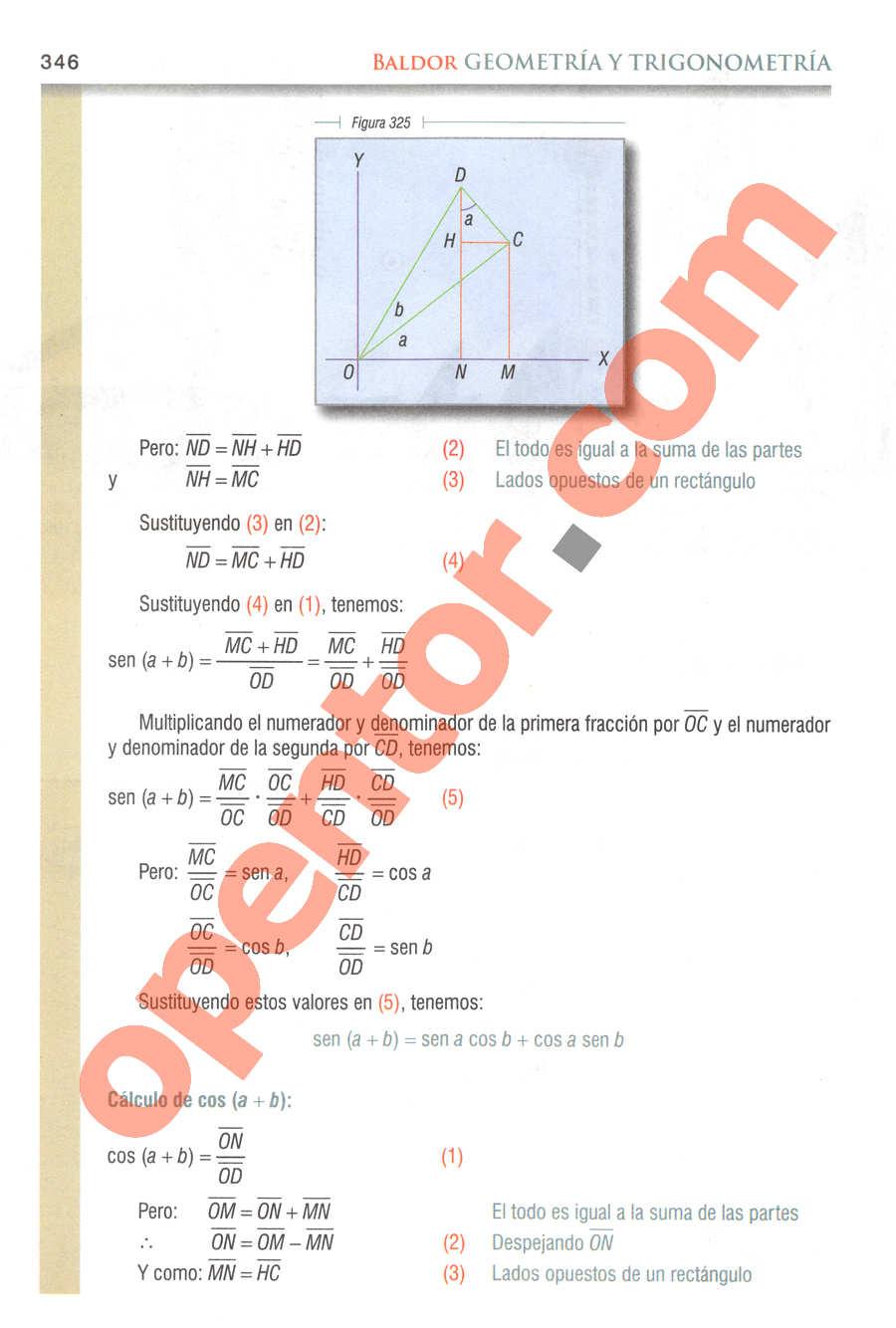 Geometría y Trigonometría de Baldor - Página 346