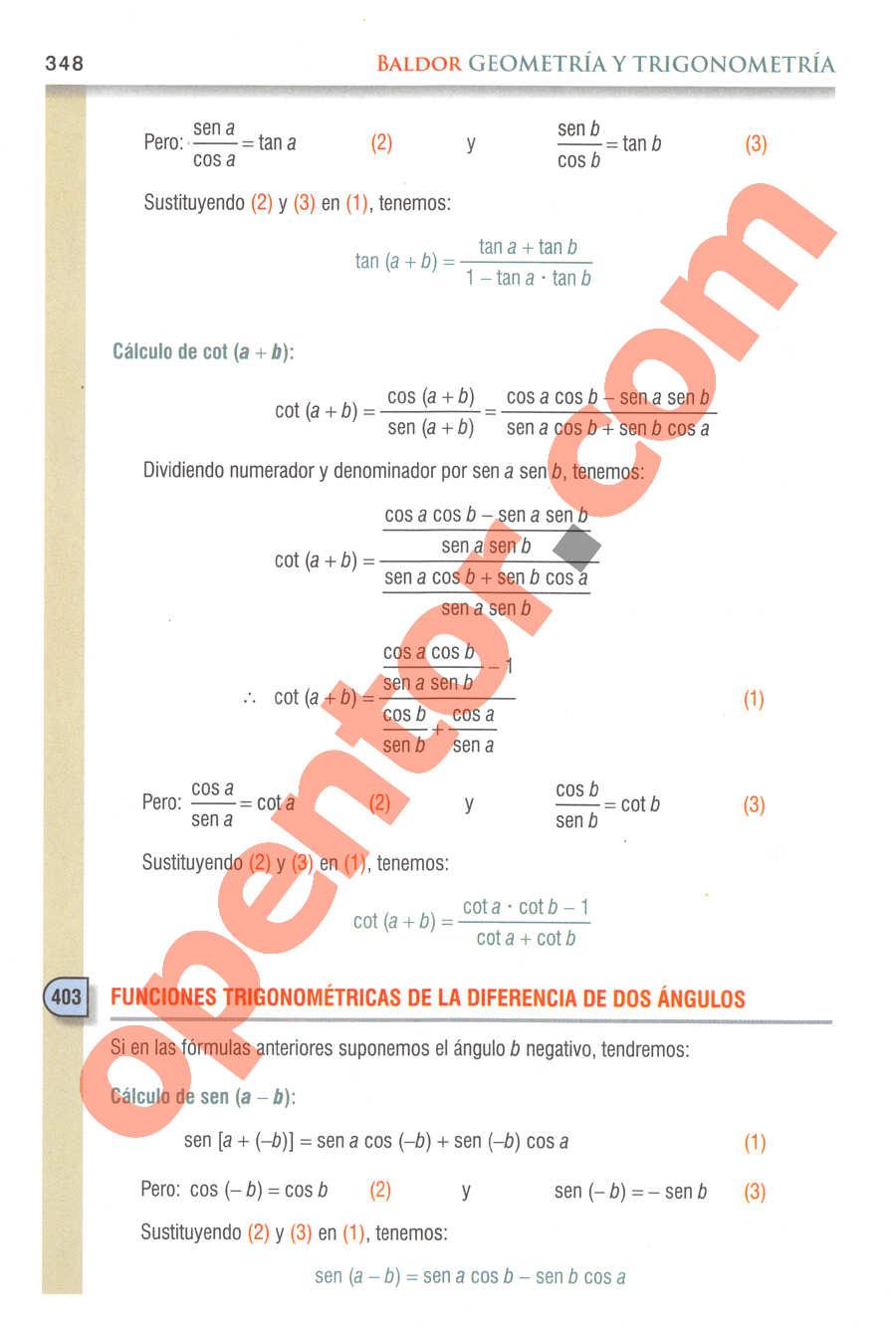 Geometría y Trigonometría de Baldor - Página 348