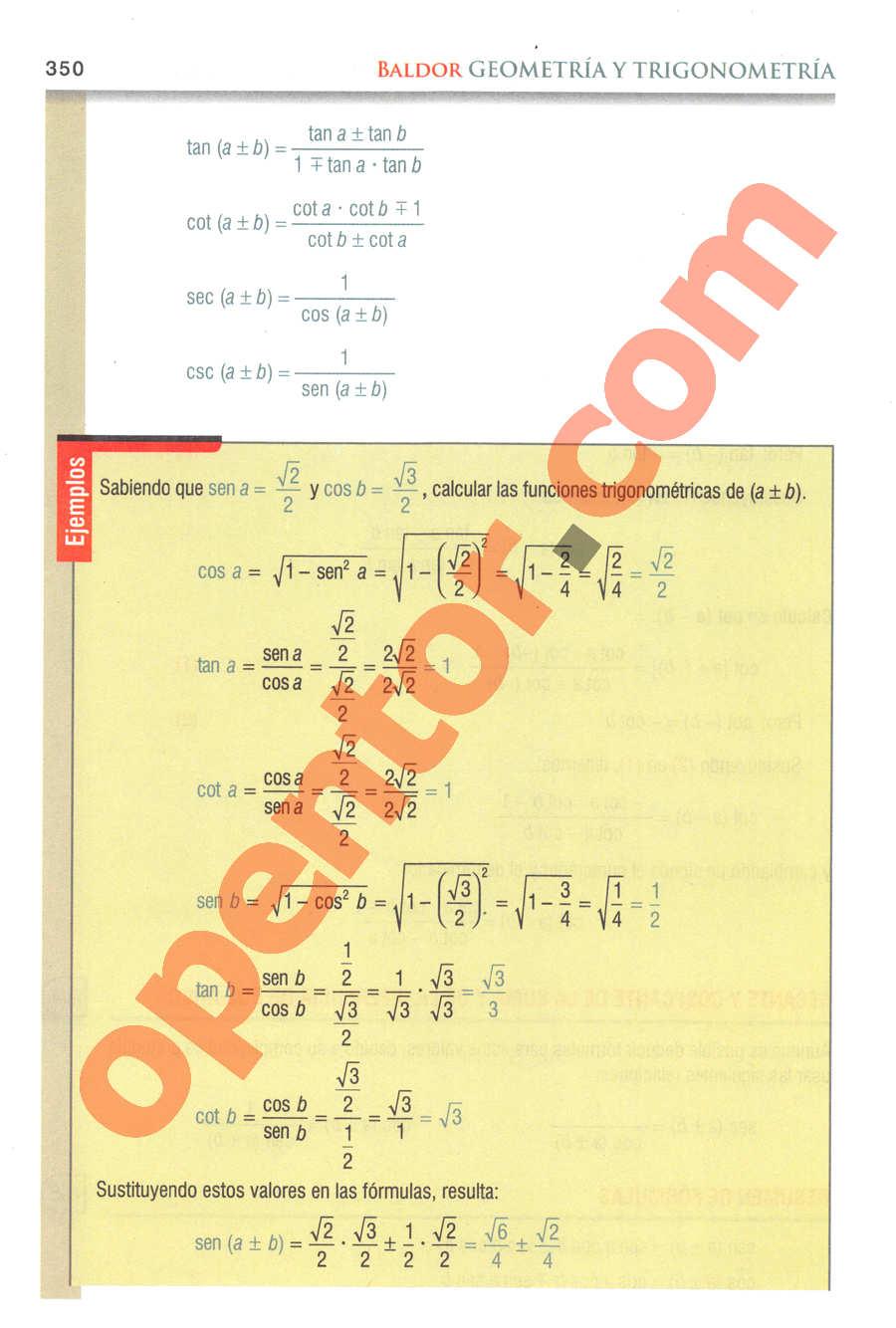 Geometría y Trigonometría de Baldor - Página 350