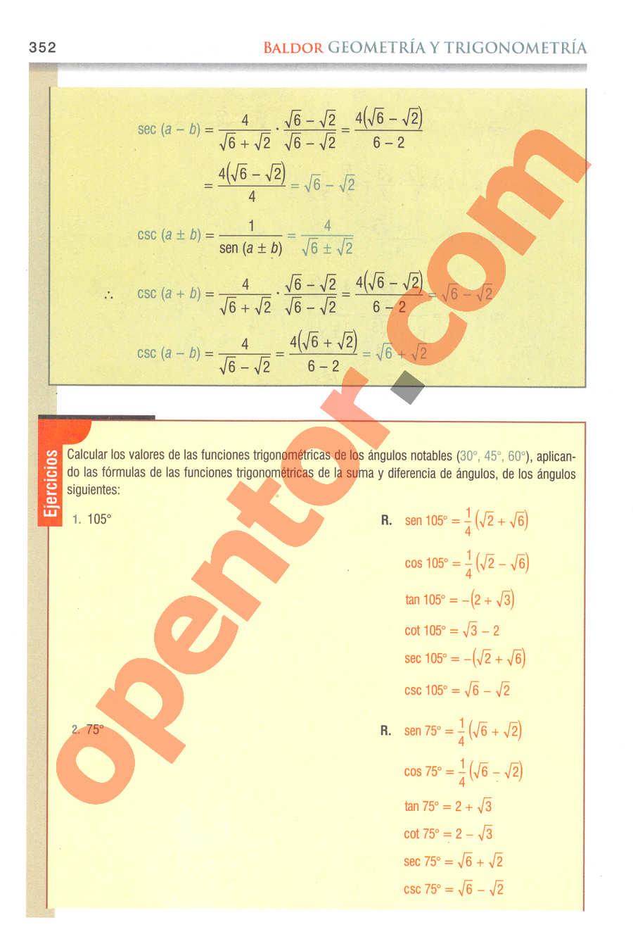 Geometría y Trigonometría de Baldor - Página 352