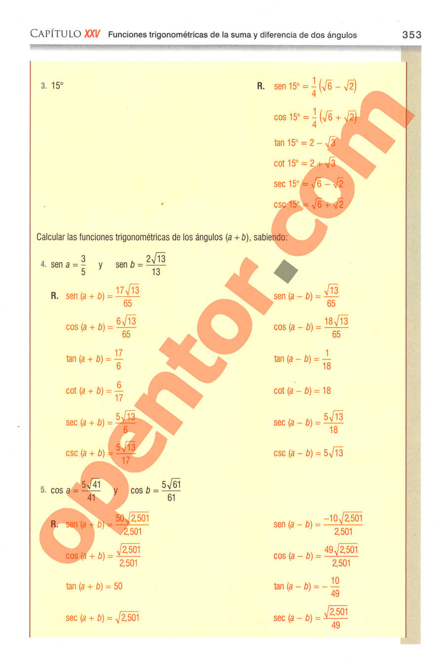 Geometría y Trigonometría de Baldor - Página 353