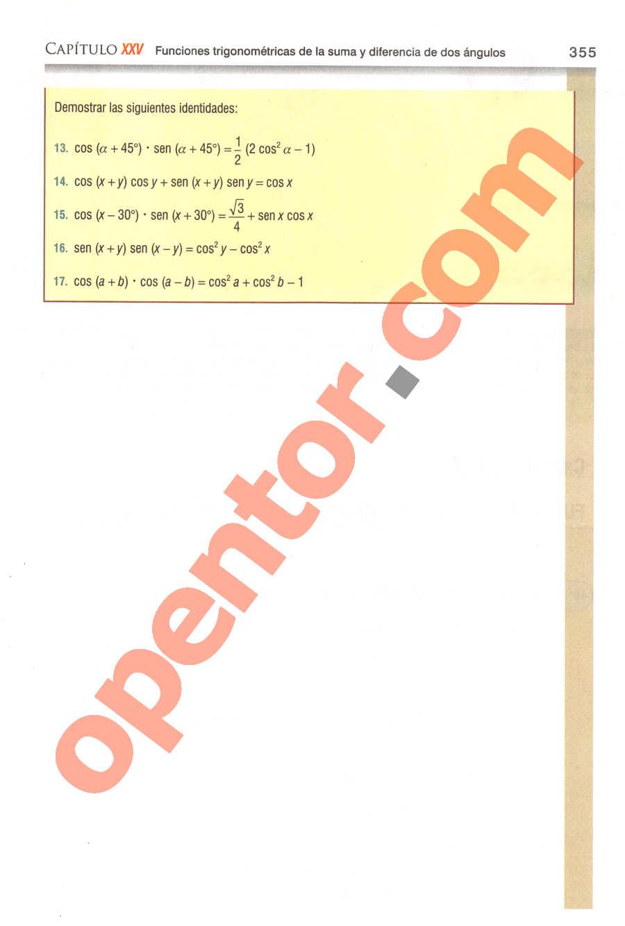 Geometría y Trigonometría de Baldor - Página 355