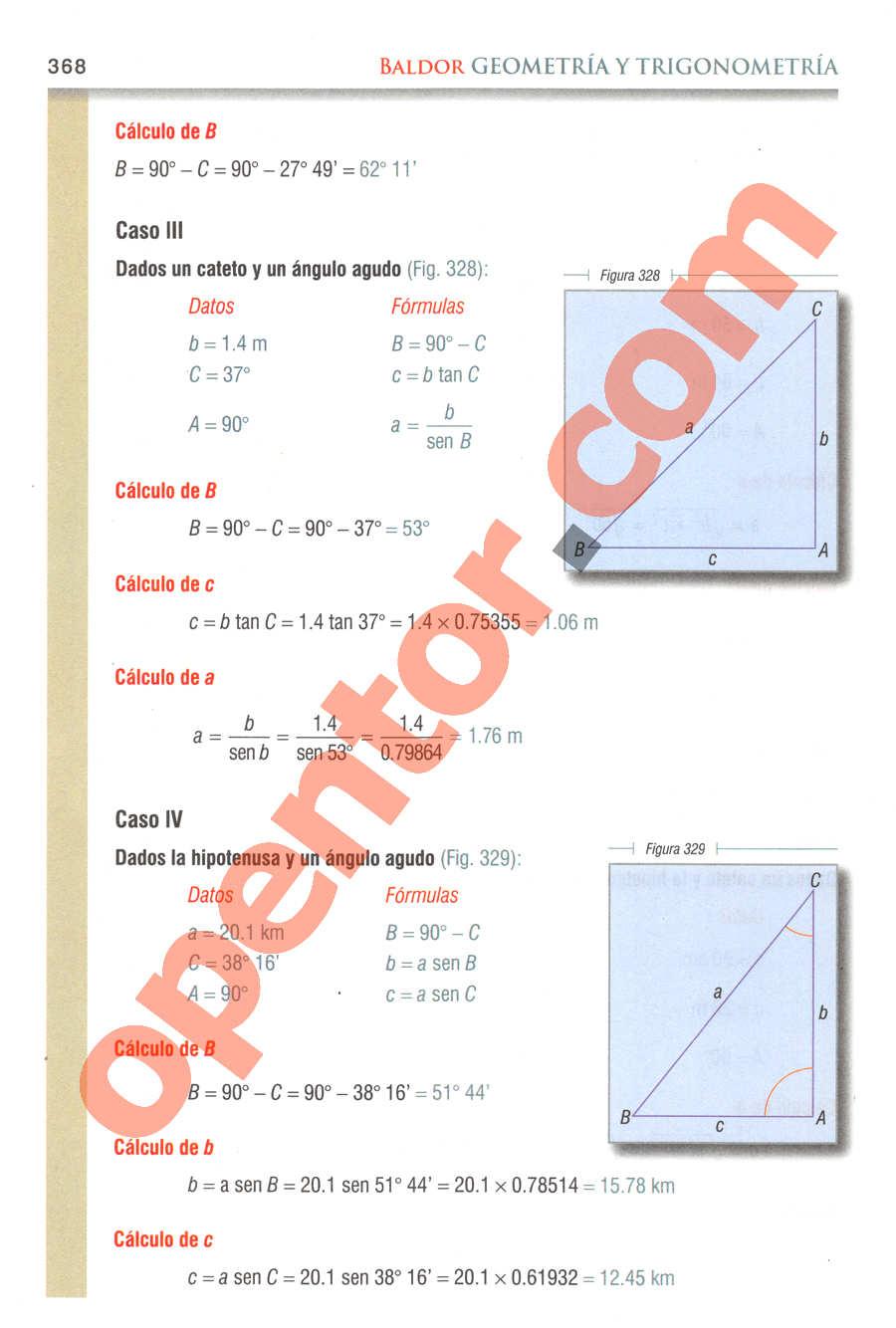 Geometría y Trigonometría de Baldor - Página 368