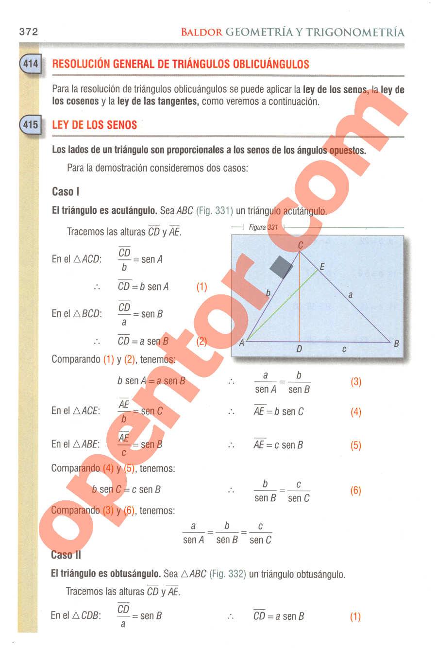 Geometría y Trigonometría de Baldor - Página 372