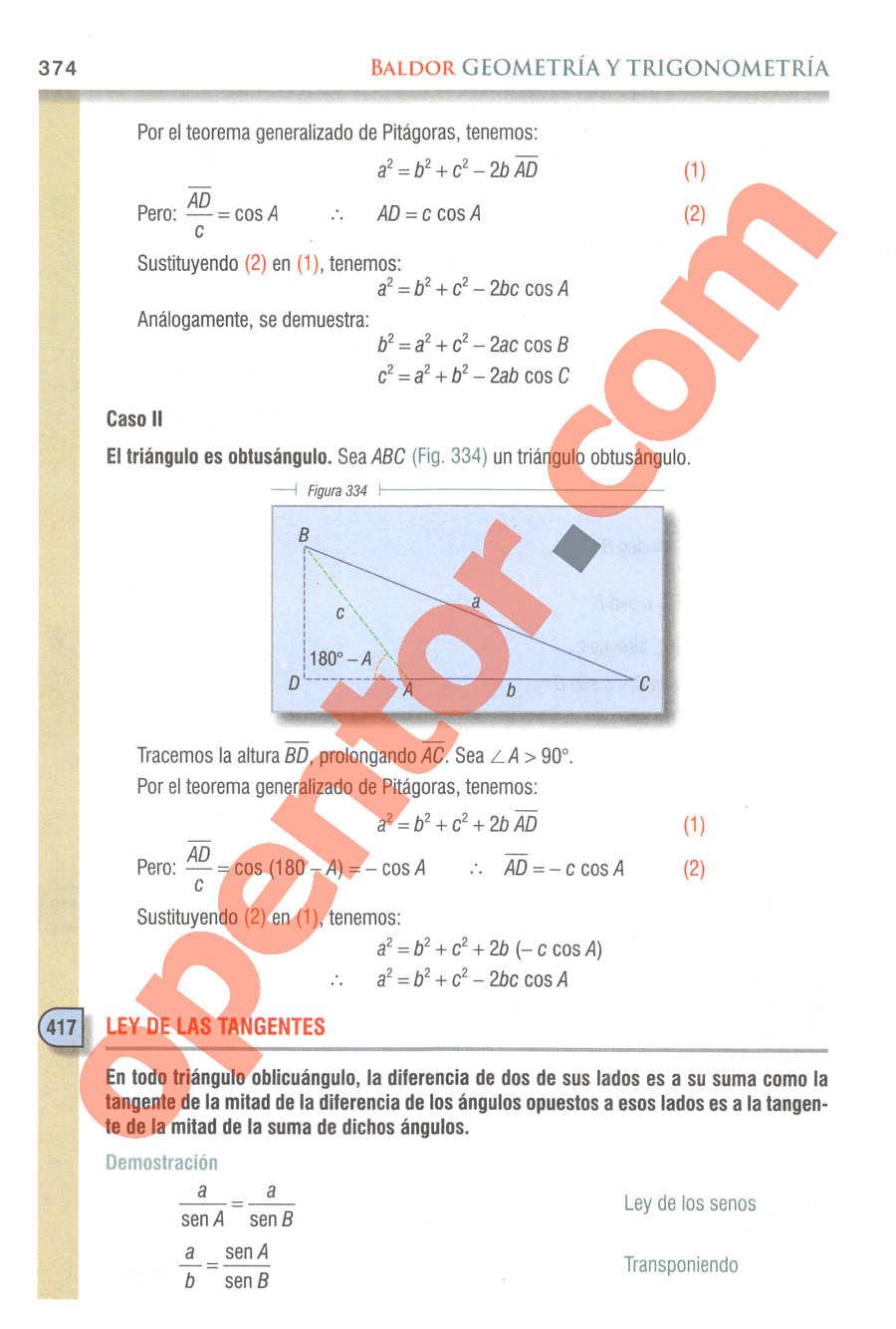 Geometría y Trigonometría de Baldor - Página 374