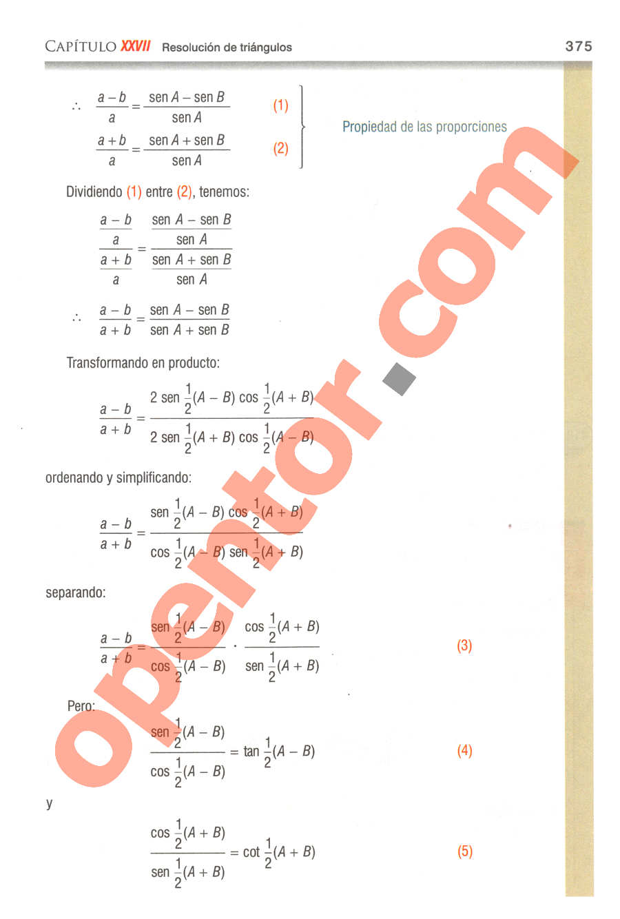 Geometría y Trigonometría de Baldor - Página 375